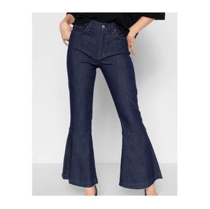 7 For All Mankind Cropped  Flare Jeans